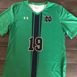 Under Armour Norte Dame soccer jersey